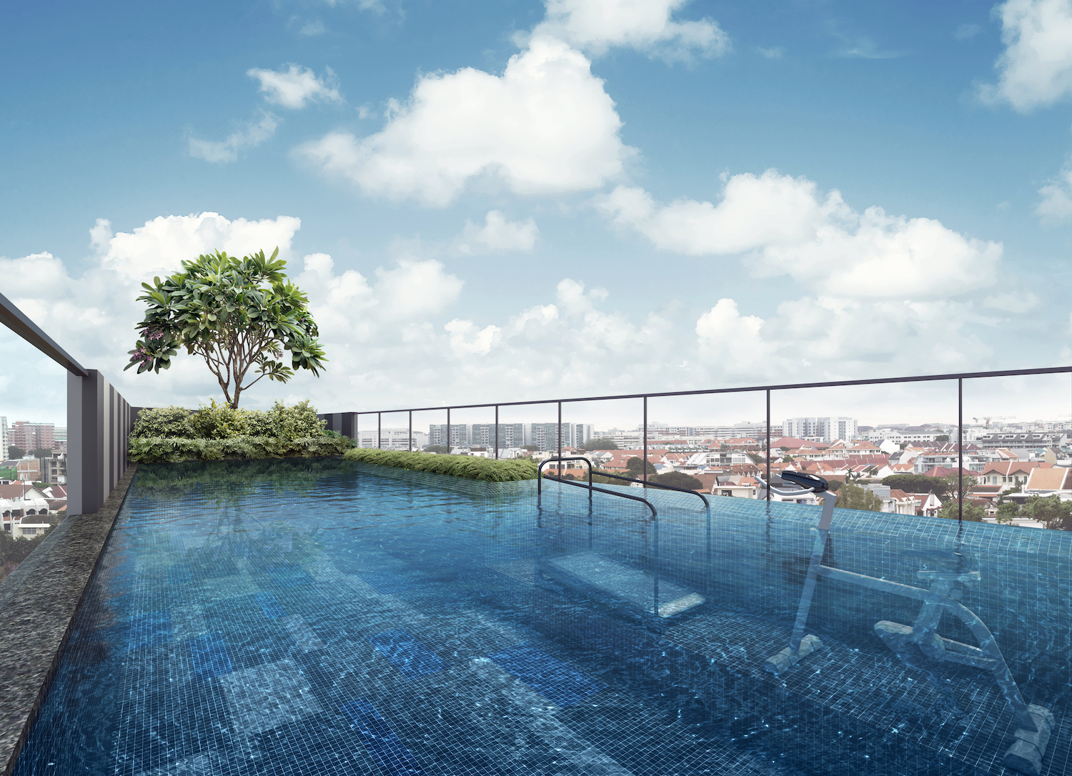 Parkwood Residences Rooftop Pool Singapore
